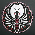 Papillon du Japon Laprof Peinture gouache