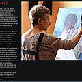 Mes peintures sur le site web de la galerie sylvie platini, lyon
