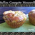 Muffins courgette mozzarella
