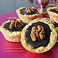 Mini-tartelettes chocolat et caramel beurre salé
