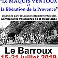 15 au 21 juillet 2019 au barroux: exposition