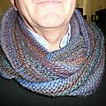 Le purl ridge scarf de stephen west