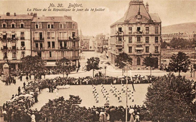 CPA Belfort Place République Gymnastique BF