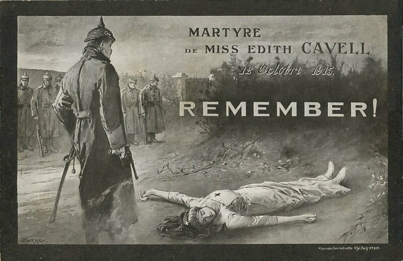 CPA Edith Cavell martyre 1915 R