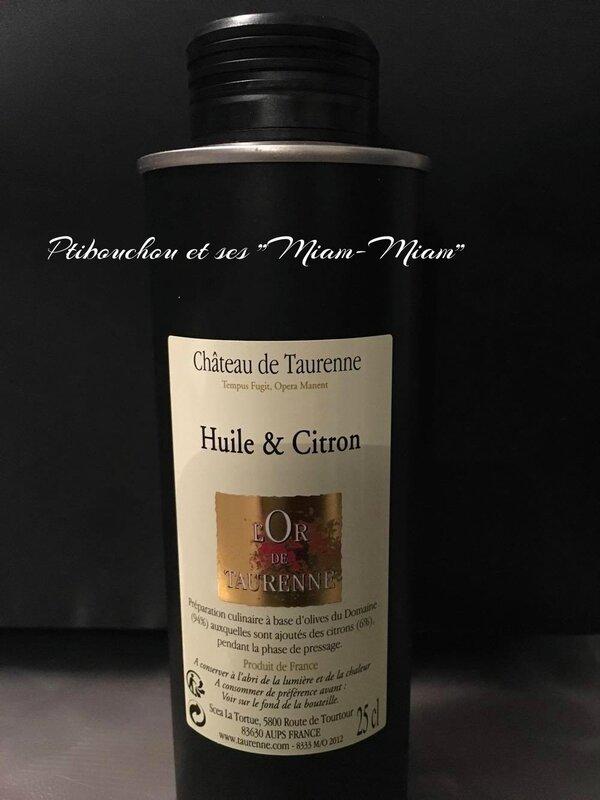 HUILE & CITRON Préparation culinaire à base d'olives et de citrons frais - Domaine de Taurenne