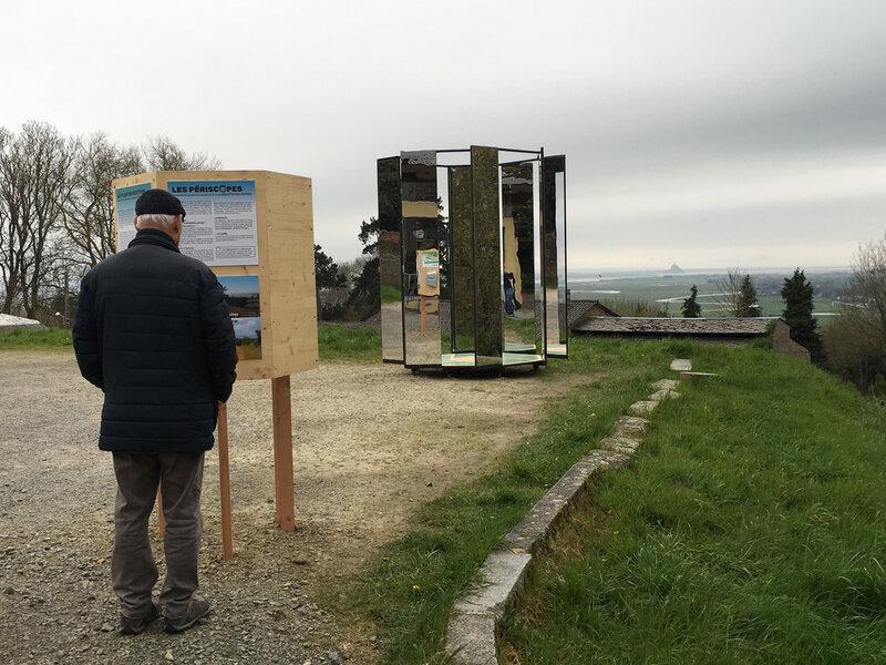 Avranches-Périscope-Belvédère-Mont Saint-Michel-installation-baie-avril-2018