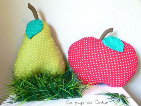 Coussins pomme poire Au pays des Cactus 1