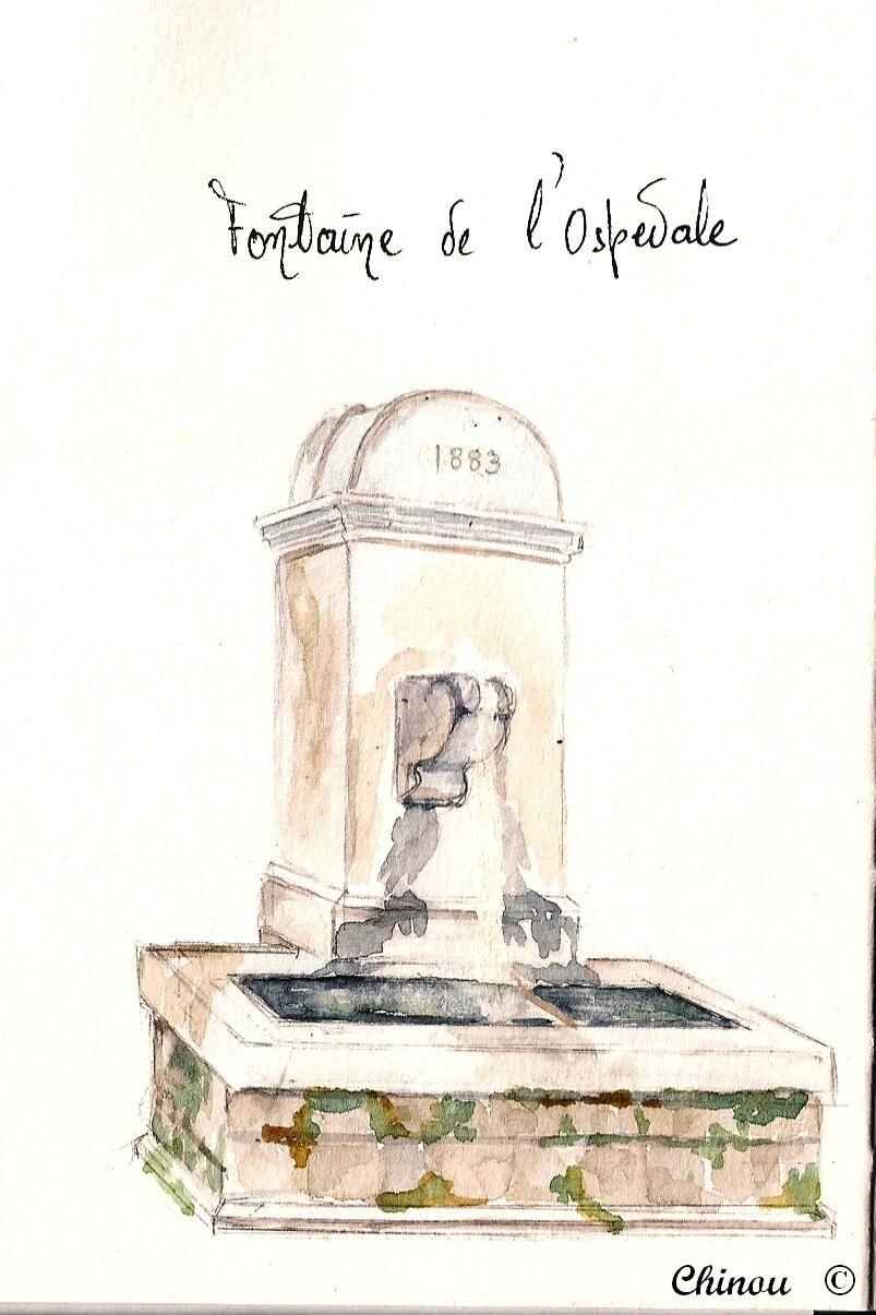 Corse : Fontaine de l'Ospedale
