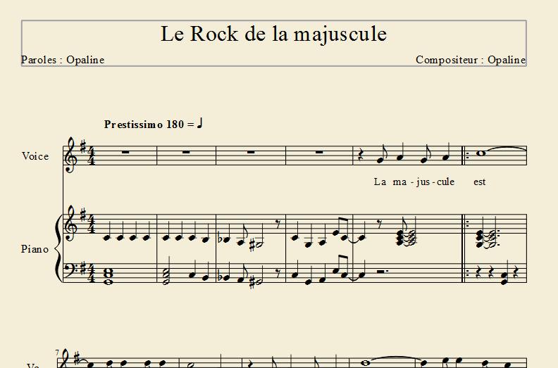 Le Rock de la majuscule