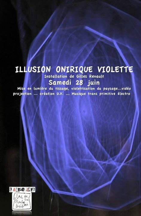 Autre café lac Roche qui boit illusion onirique violette Gilles Renault juin 2014