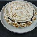 Crémeux chocolat meringué sur biscuits coco