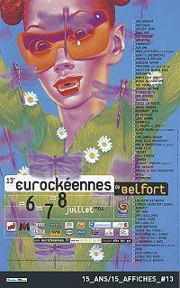 Affiche Eurockéennes 2001