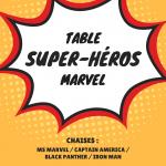 table superhéros