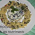 aubergine yogourt taboulé