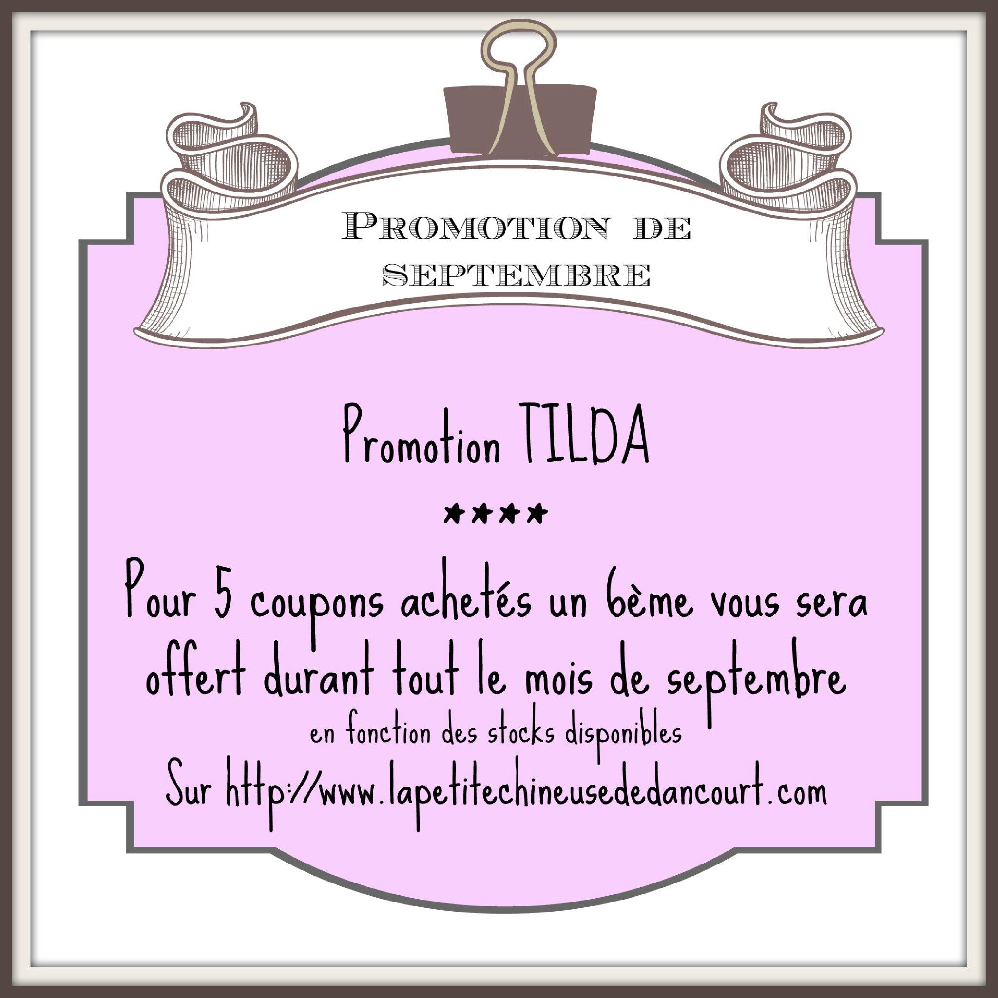 Promotion Tilda chez la petite chineuse de Dancourt