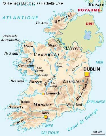 la géographie de irlande