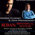 George clooney john prendergast à l'université stanford