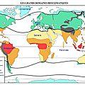 Les principales zones climatiques