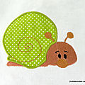 escargot appliqué