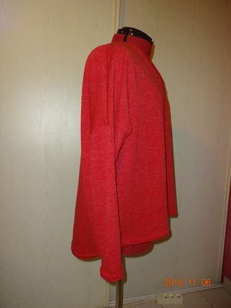 pull oversize rouge 5