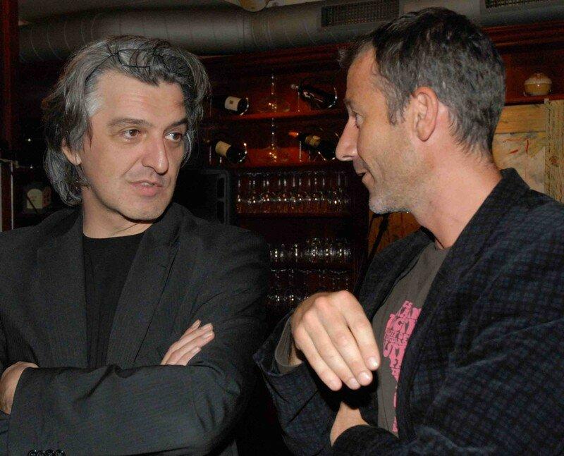 Pascal Schouwey, journaliste et homme de radio, avec Ivan Frésard (dr), producteur et animateur radio.