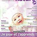 Parution dans bébé nature oct. 2012 !