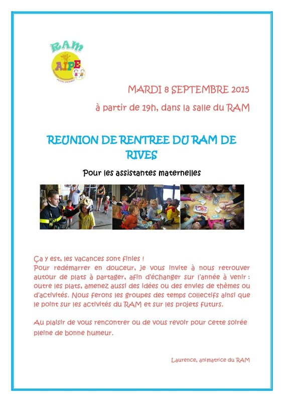 affiche reunion de rentree 2015 rives