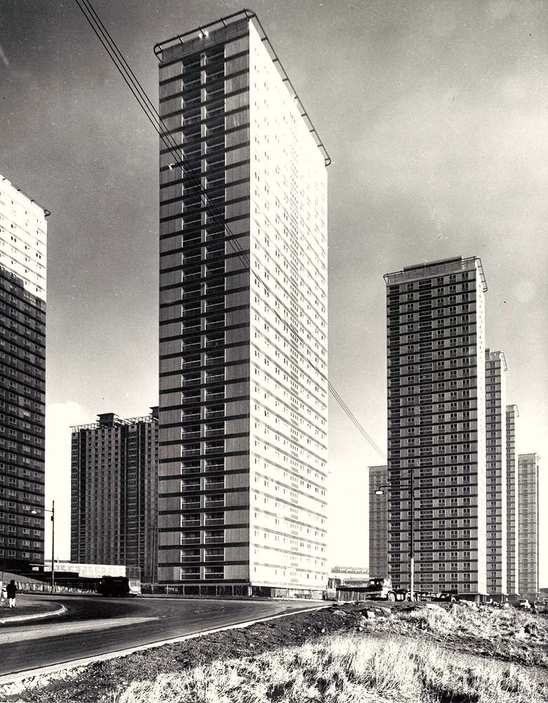 The Red Road flats in Petershill c 1960s