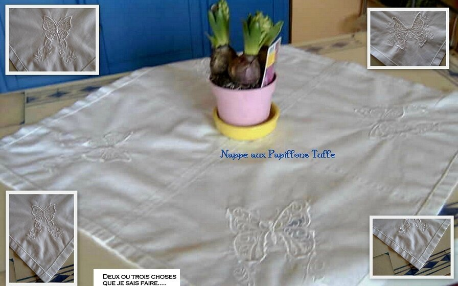nappe papillons tulle