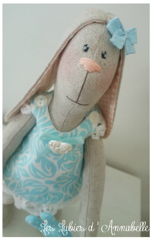 Lapin Tilda fille style shabby chic