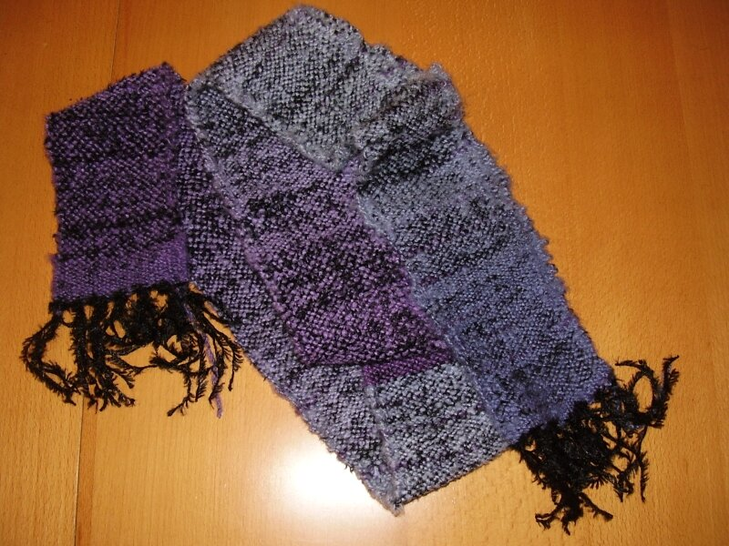 First weaved scarf