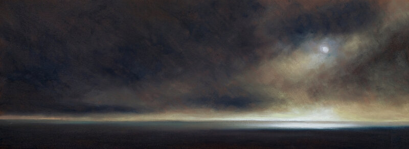 horizon elevation 109 pastel à l'huile, 63 x 25 cm, mai 2019