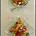 Tagliatelle de crêpe aux fruits