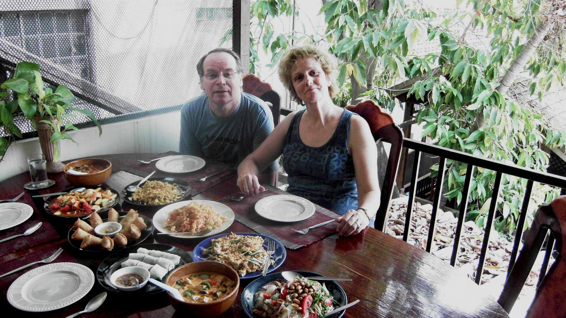 CHIANG MAI - Après la cuisine, le repas!