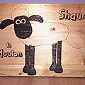 Pyrogravure #1 : shaun le mouton