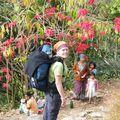 Sur un sentier entre Ravangla et Tashiding
