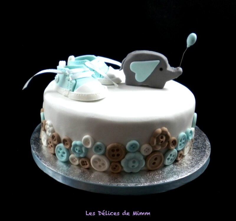 Un sponge cake pour diabétique pour ce baby shower cake
