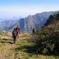 Massif du Simien : Le long du Canyon de Rim