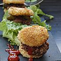 Mini burgers au babybel