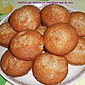 Muffins aux abricots et croustillant noix de coco