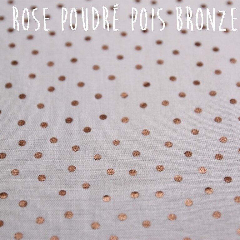 rose poudré pois bronze