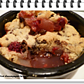 Crumble poires/framboises/chocolat