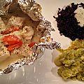 Papillotes de cabillaud à la crème de parmesan