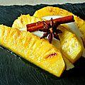 Ananas rôti aux épices et fromage blanc