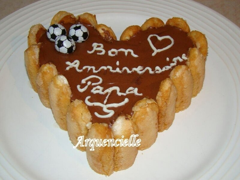 charlotte chocolat coeur foot anniversaire
