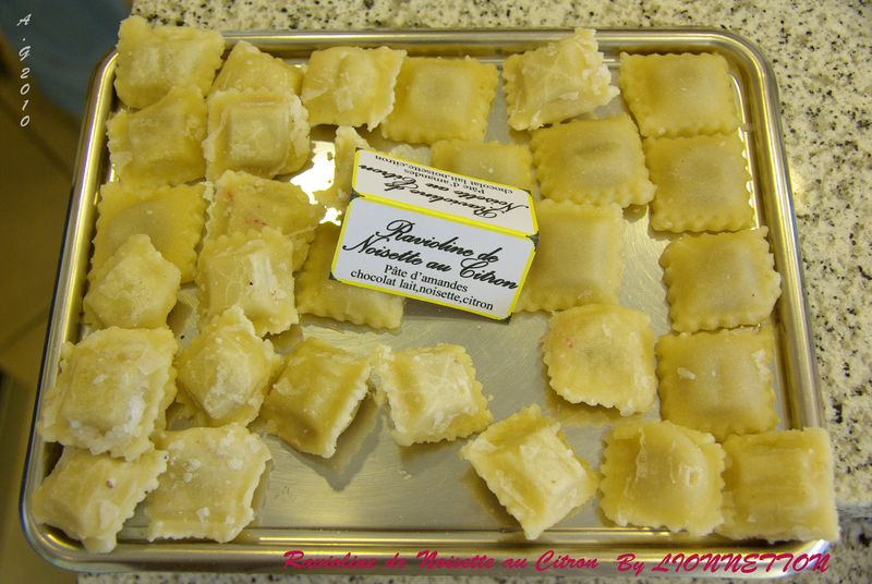 Ravioline de Noisette au Citron By Lionnetton
