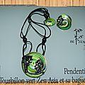 Pendentif tourbillon vert Zen Asia