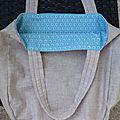 Intérieur sac en lin