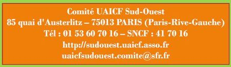 Comite Sud Ouest coordonnees