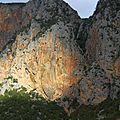 Coup do projo sur le secteur Sbrce, ouvert récemment par des grimpeurs tchèques